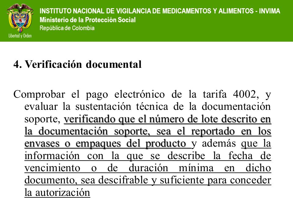 4. Verificación documental