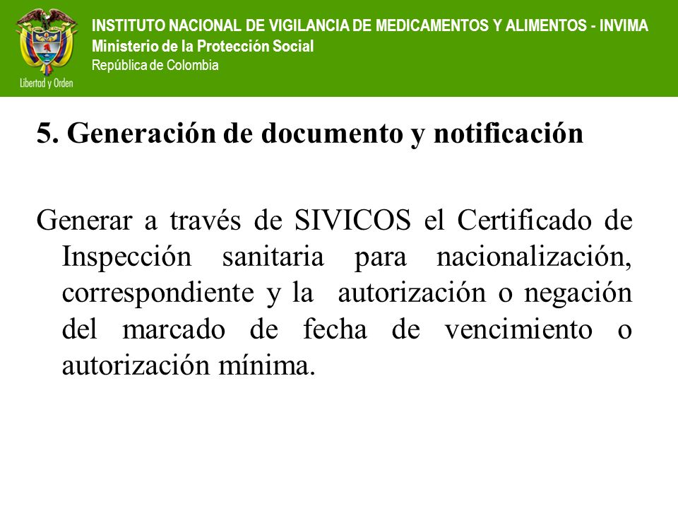 5. Generación de documento y notificación
