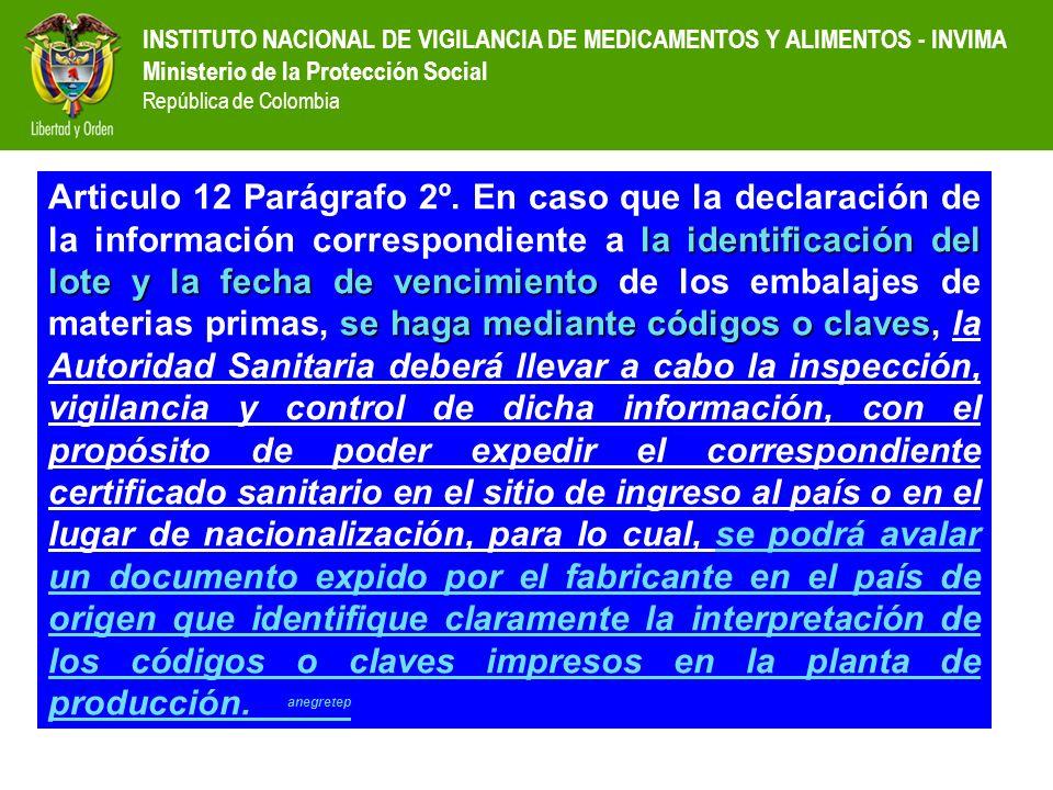 Articulo 12 Parágrafo 2º.