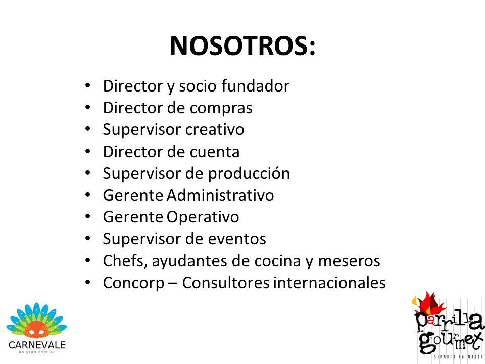 NOSOTROS: Director y socio fundador Director de compras