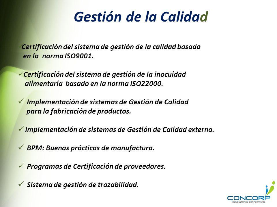 Gestión de la Calidad Certificación del sistema de gestión de la calidad basado. en la norma ISO9001.