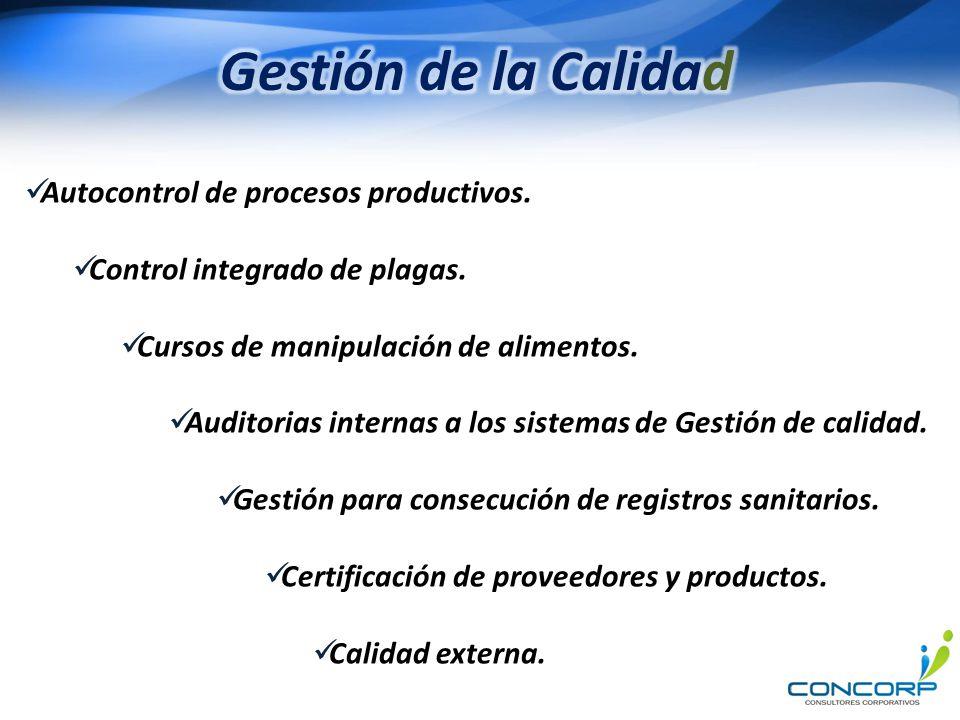 Gestión de la Calidad Autocontrol de procesos productivos.