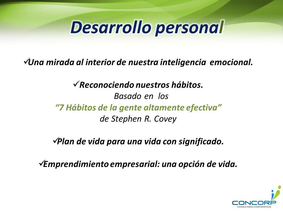 Desarrollo personal Una mirada al interior de nuestra inteligencia emocional. Reconociendo nuestros hábitos.