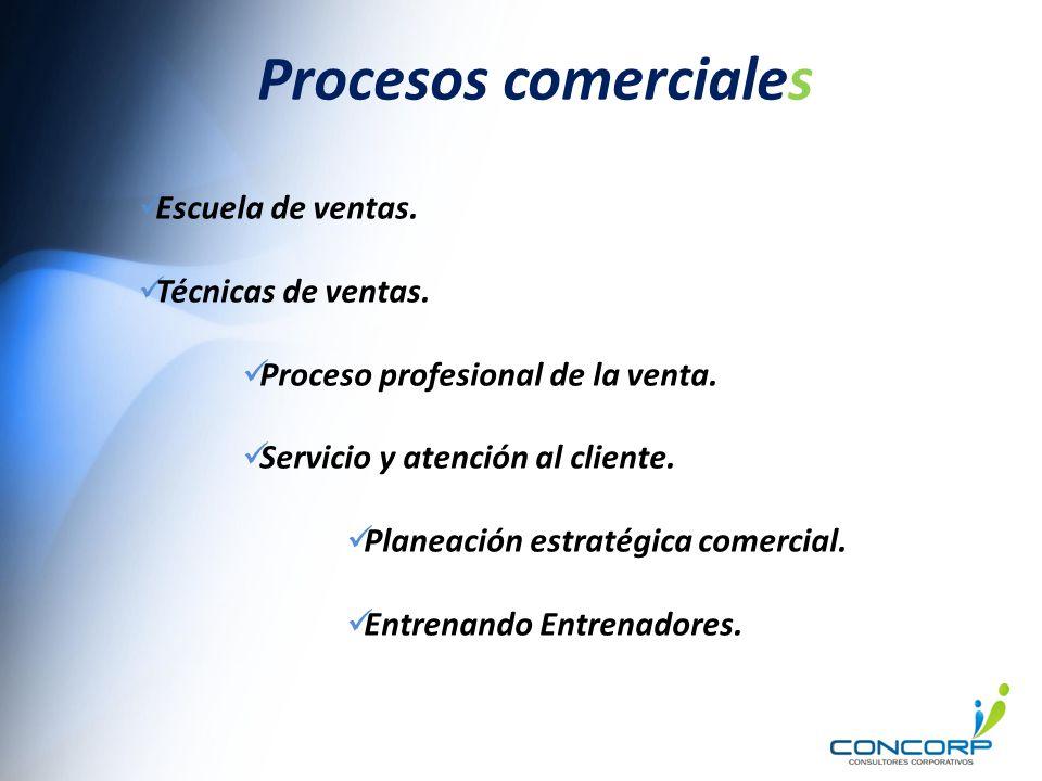 Procesos comerciales Escuela de ventas. Técnicas de ventas.