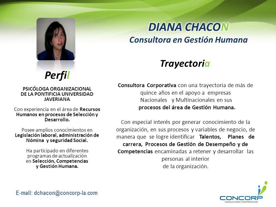 DIANA CHACON Consultora en Gestión Humana