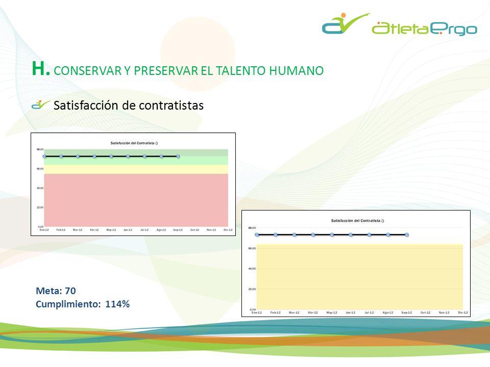 H. CONSERVAR Y PRESERVAR EL TALENTO HUMANO
