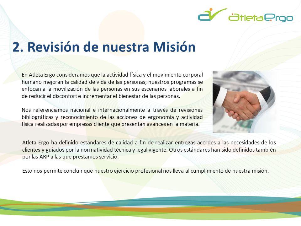 2. Revisión de nuestra Misión