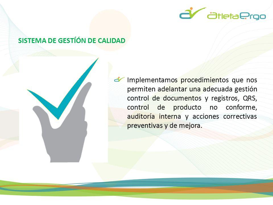SISTEMA DE GESTÍÓN DE CALIDAD