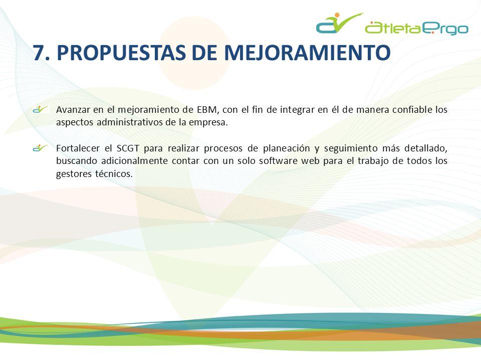 7. PROPUESTAS DE MEJORAMIENTO