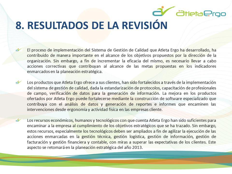 8. RESULTADOS DE LA REVISIÓN