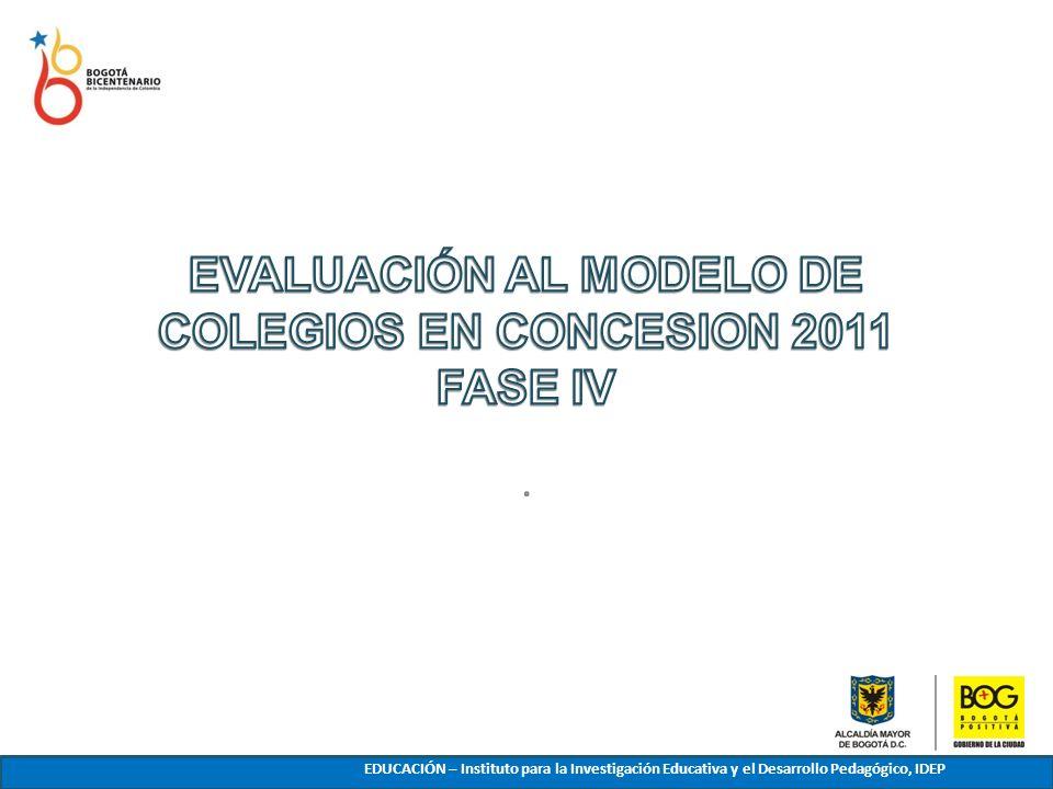 EVALUACIÓN AL MODELO DE COLEGIOS EN CONCESION 2011 FASE IV