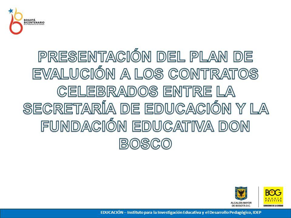 EDUCACIÓN – Instituto para la Investigación Educativa y el Desarrollo Pedagógico, IDEP