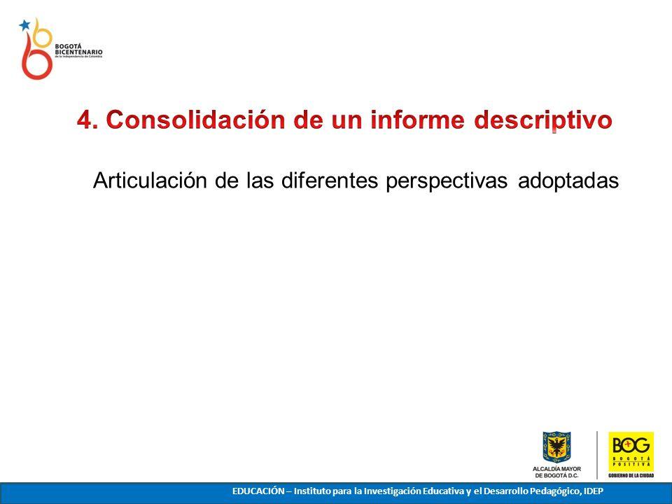 4. Consolidación de un informe descriptivo