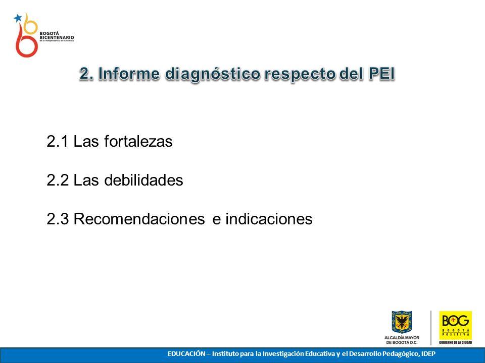 2. Informe diagnóstico respecto del PEI