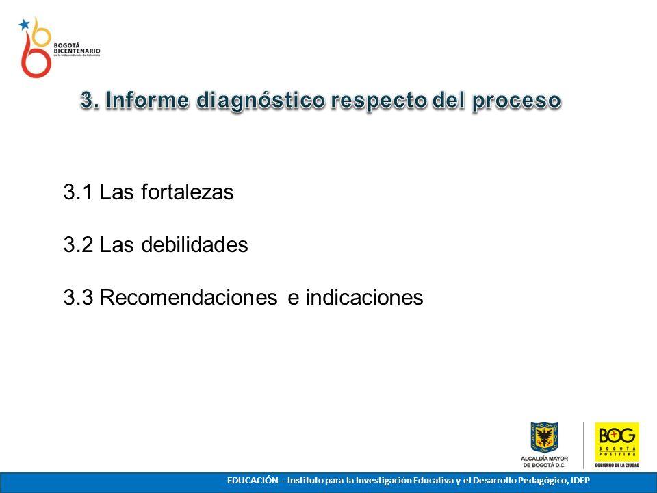 3. Informe diagnóstico respecto del proceso