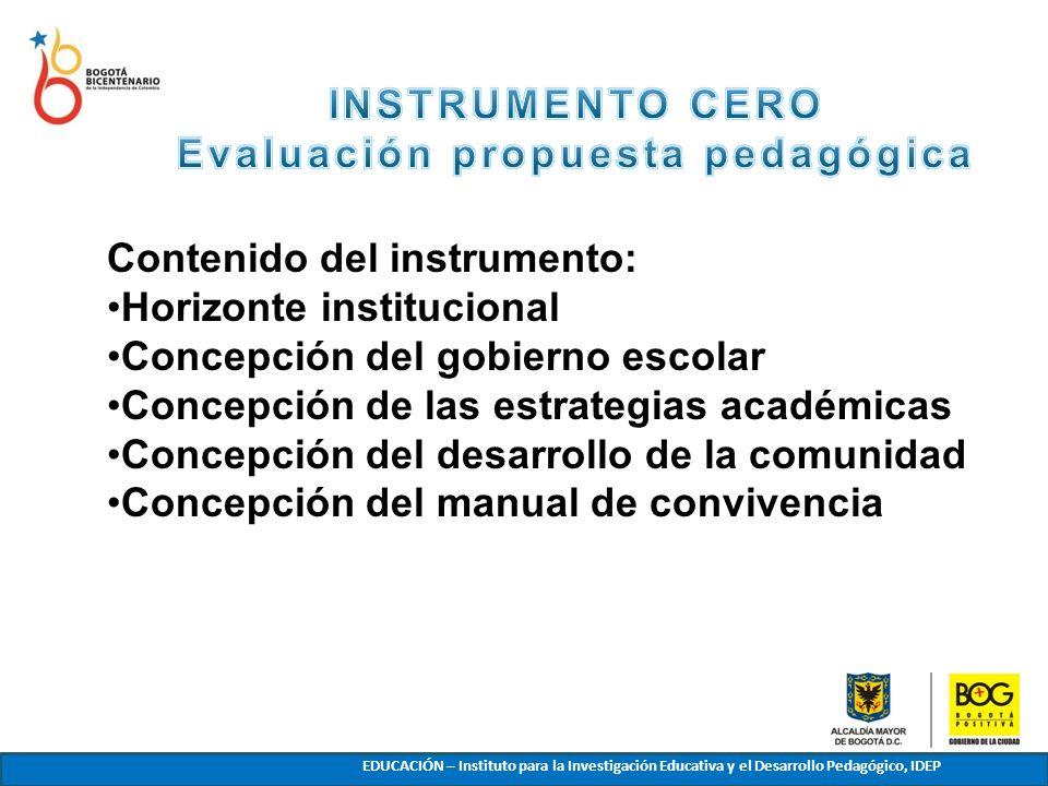 Evaluación propuesta pedagógica