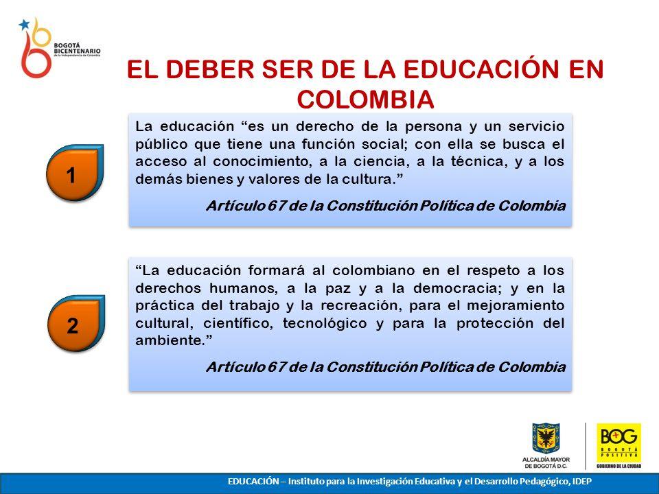 EL DEBER SER DE LA EDUCACIÓN EN COLOMBIA