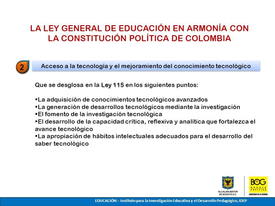Acceso a la tecnología y el mejoramiento del conocimiento tecnológico