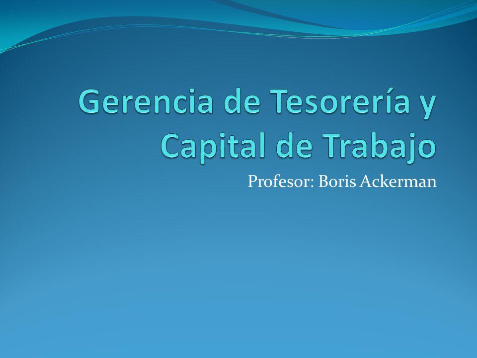 Gerencia de Tesorería y Capital de Trabajo