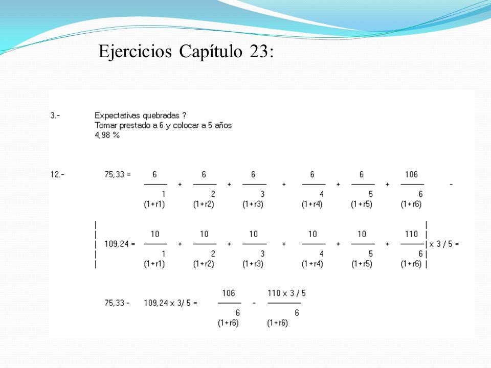 Ejercicios Capítulo 23: