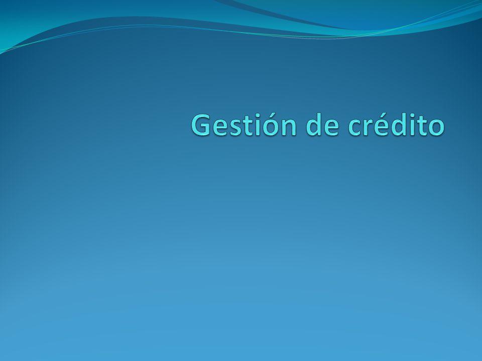 Gestión de crédito