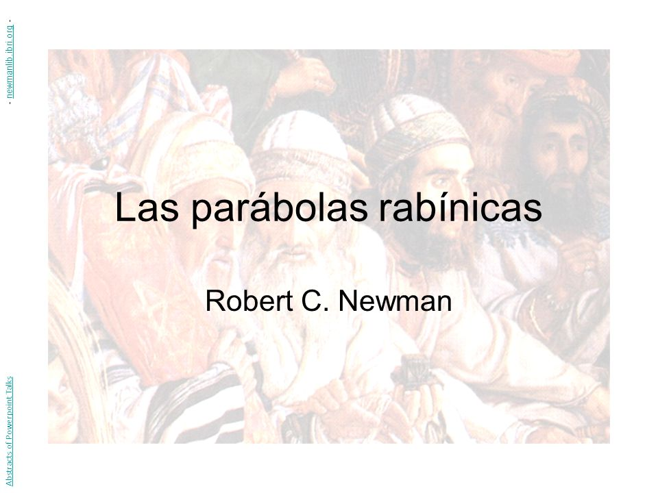 Las parábolas rabínicas
