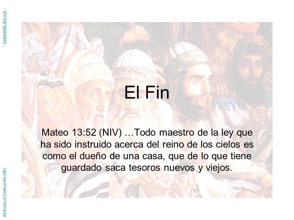 - newmanlib.ibri.org - El Fin.