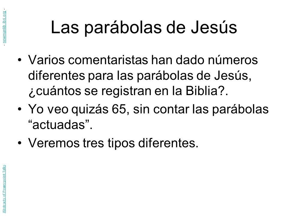 Las parábolas de Jesús - newmanlib.ibri.org -