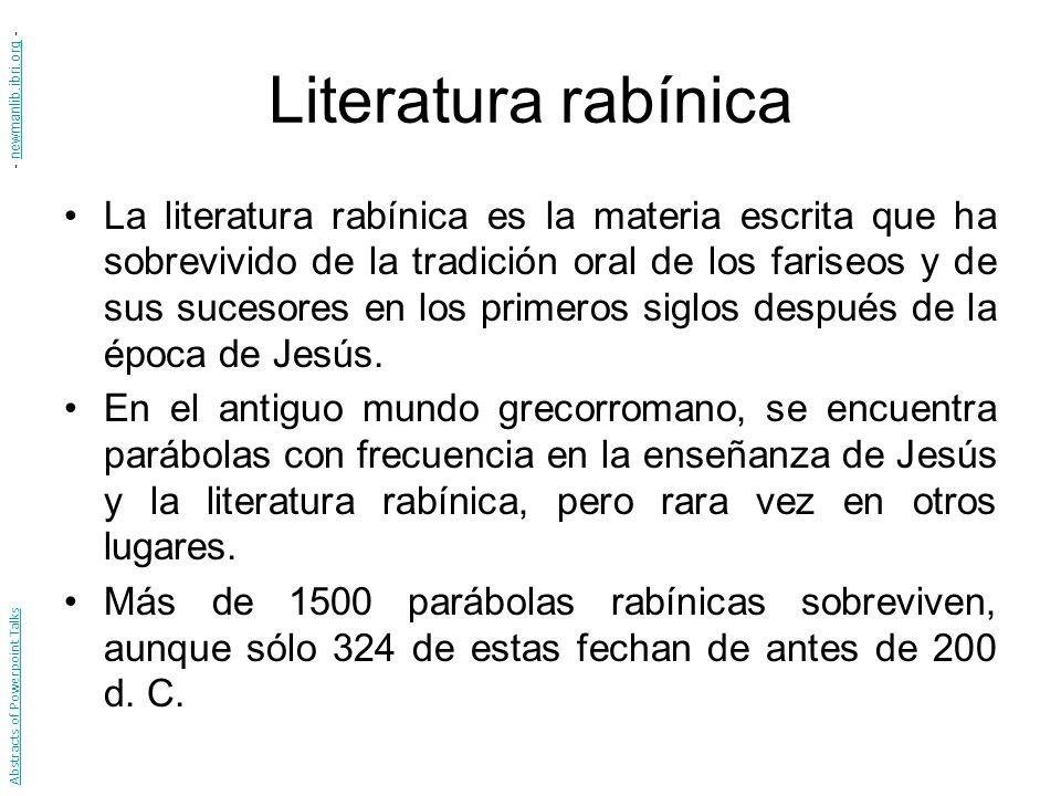 Literatura rabínica - newmanlib.ibri.org -