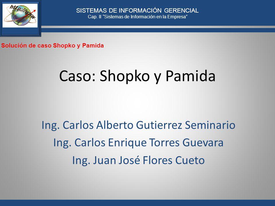 Caso: Shopko y Pamida Ing. Carlos Alberto Gutierrez Seminario