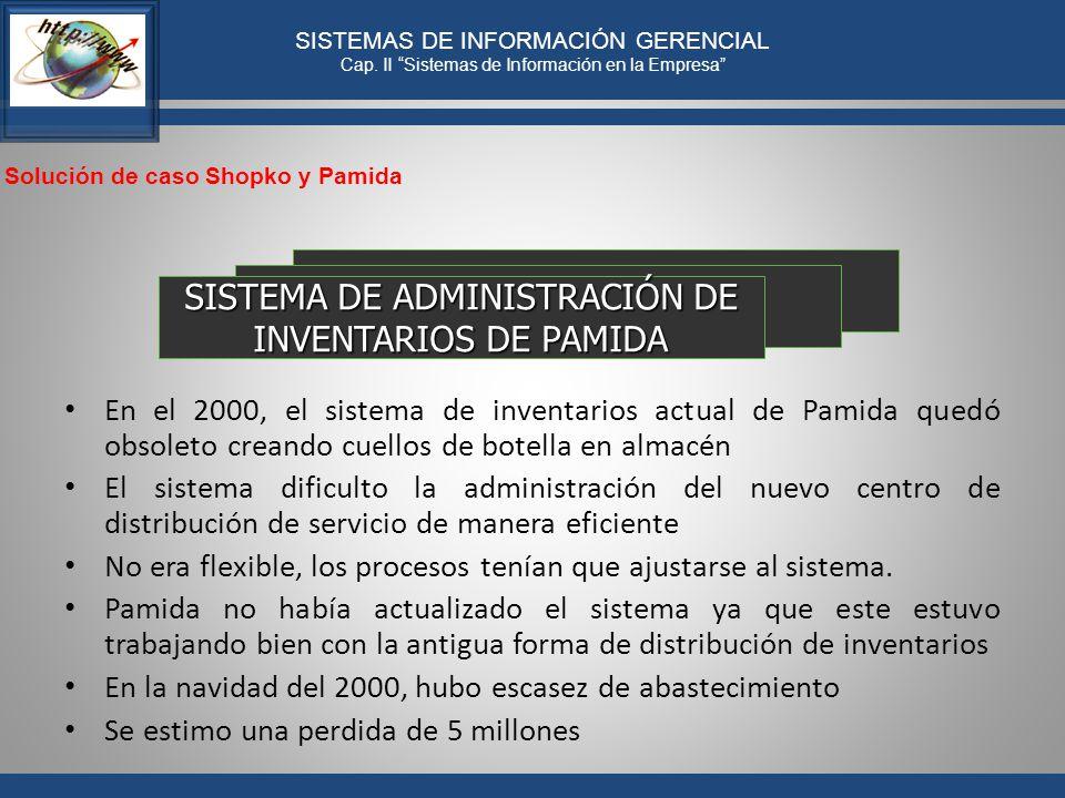 SISTEMA DE ADMINISTRACIÓN DE INVENTARIOS DE PAMIDA