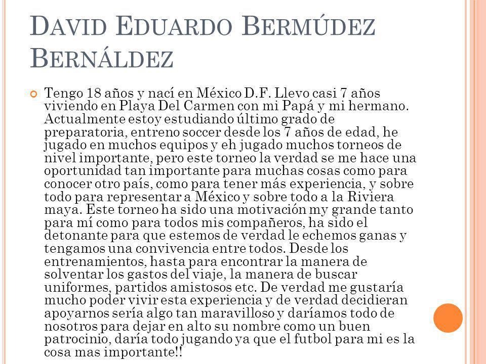 David Eduardo Bermúdez Bernáldez