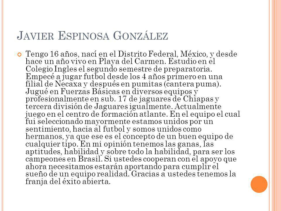 Javier Espinosa González