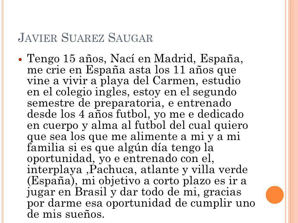 Javier Suarez Saugar