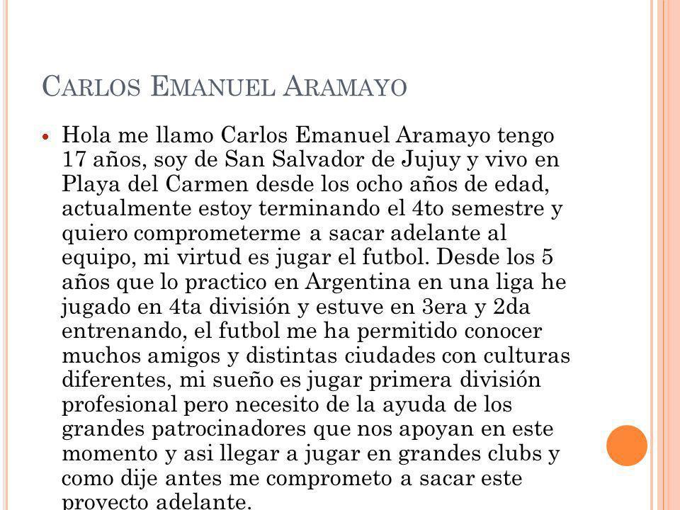 Carlos Emanuel Aramayo