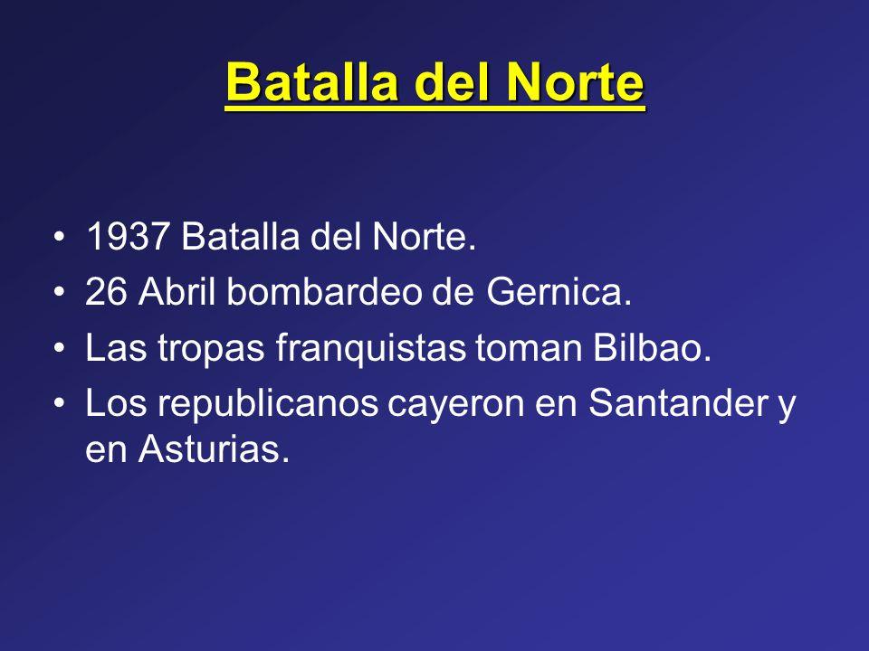 Batalla del Norte 1937 Batalla del Norte.