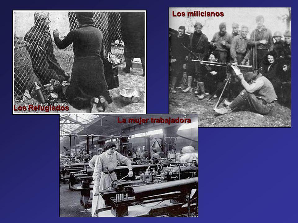 Los milicianos Los Refugiados La mujer trabajadora sara