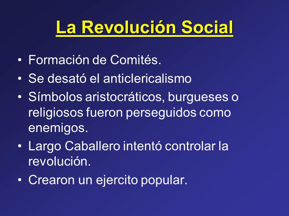 La Revolución Social Formación de Comités.
