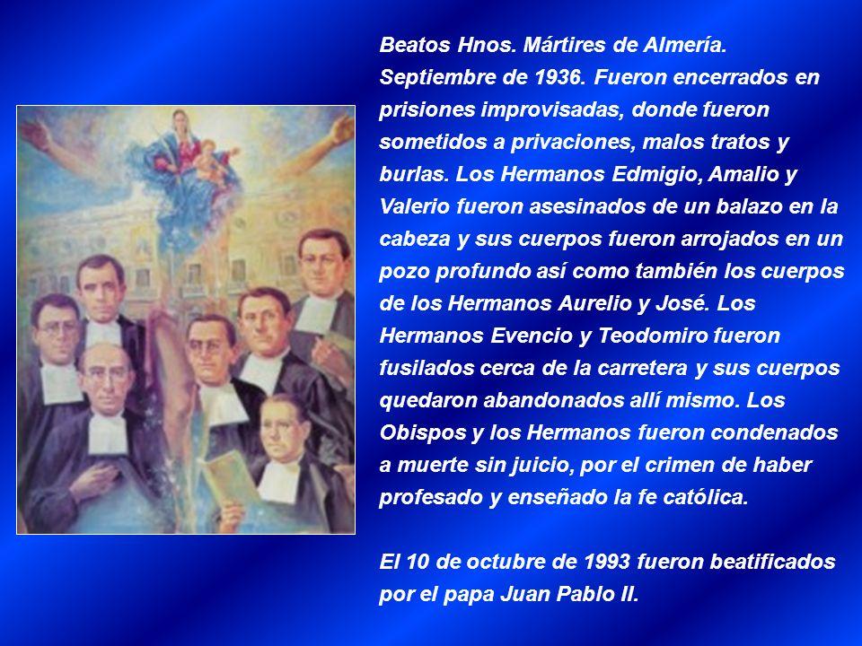 Beatos Hnos. Mártires de Almería. Septiembre de 1936