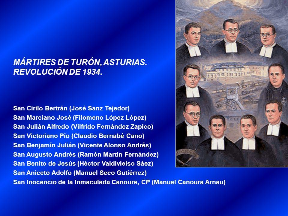 MÁRTIRES DE TURÓN, ASTURIAS. REVOLUCIÓN DE 1934.