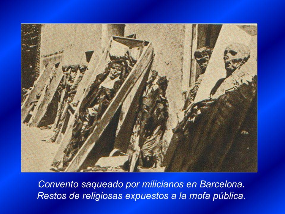 Convento saqueado por milicianos en Barcelona