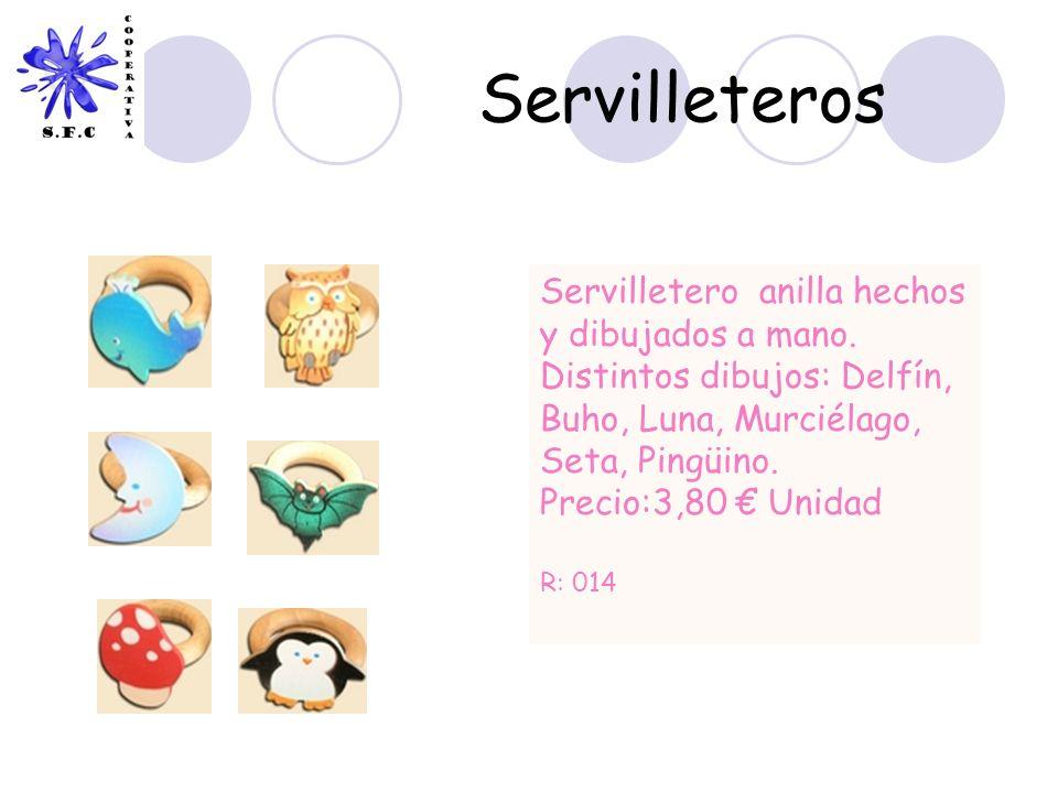 Servilleteros Servilletero anilla hechos y dibujados a mano.
