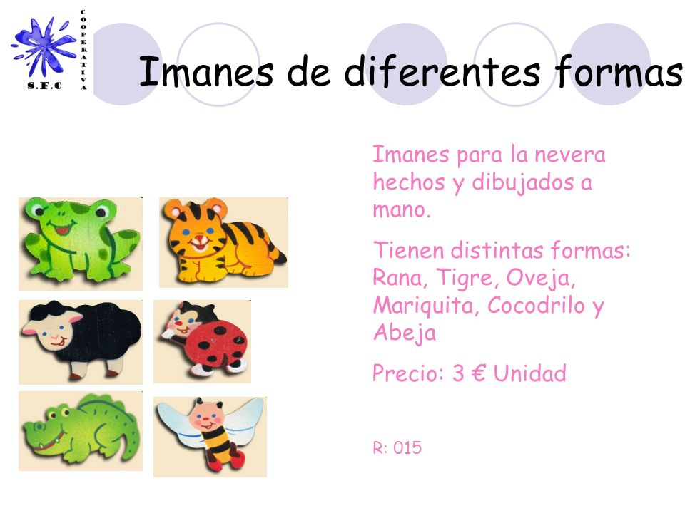 Imanes de diferentes formas
