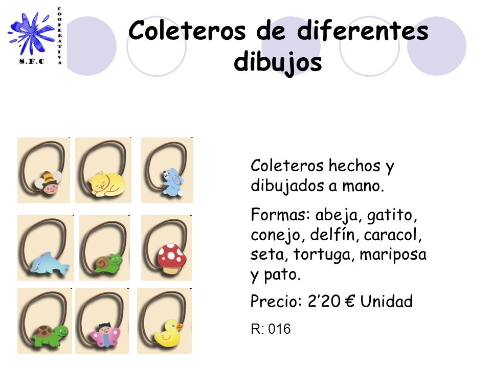 Coleteros de diferentes dibujos