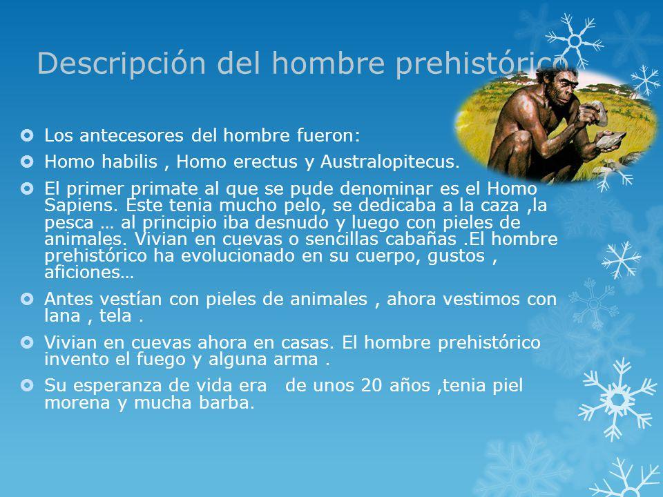 Descripción del hombre prehistórico