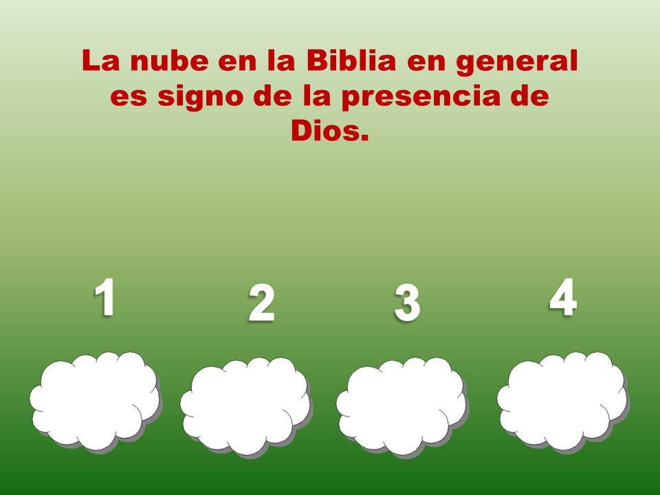 La nube en la Biblia en general es signo de la presencia de Dios.