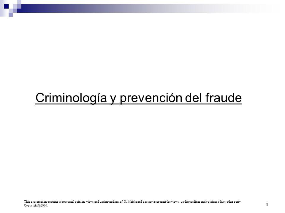Criminología y prevención del fraude