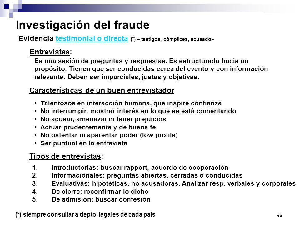 Investigación del fraude