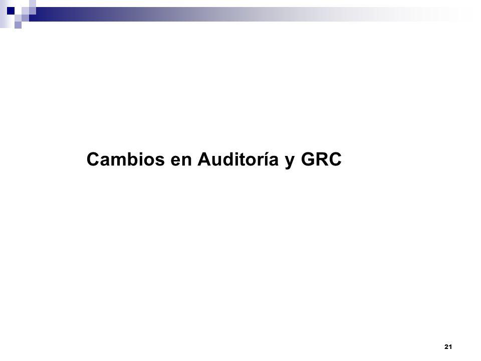 Cambios en Auditoría y GRC