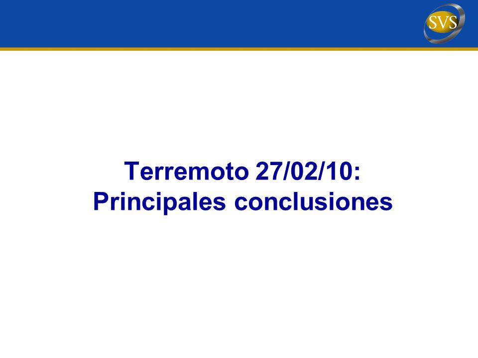 Terremoto 27/02/10: Principales conclusiones